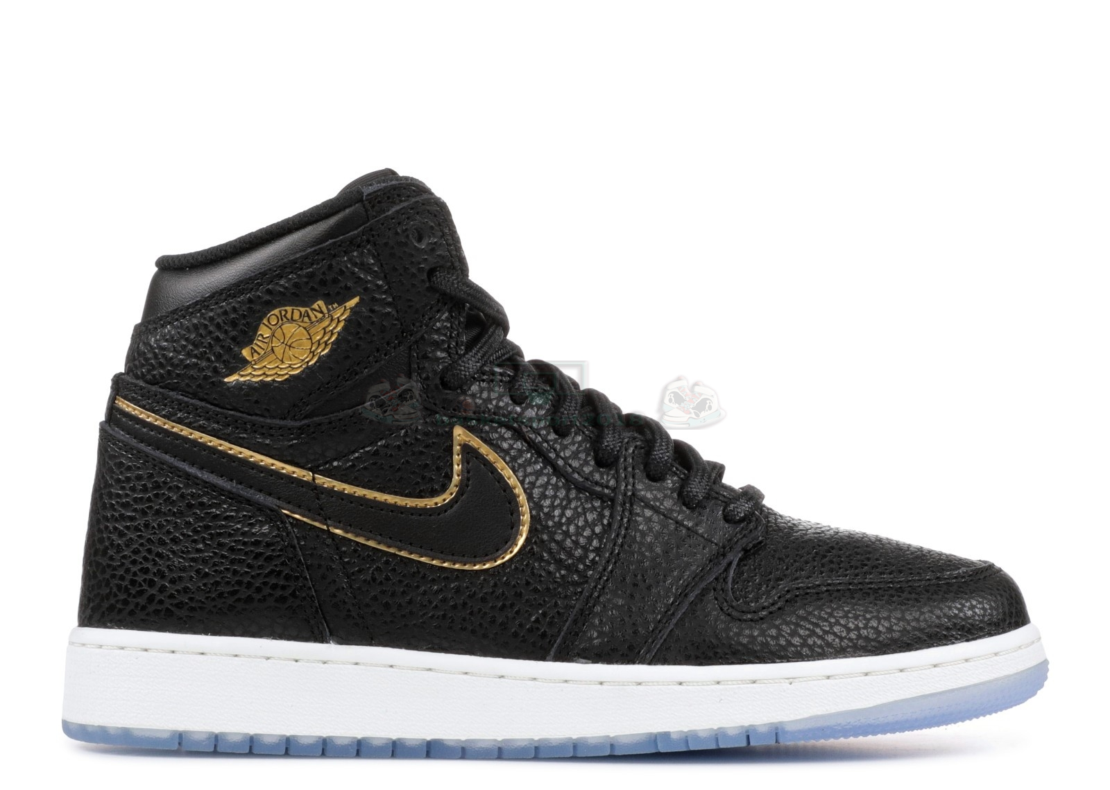 "Acheter Maintenant Pas Cher Enfant - Air Jordan 1 Retro High Og (Gs) ""City Of Flight"" Noir Métallique Or (575441-031)"
