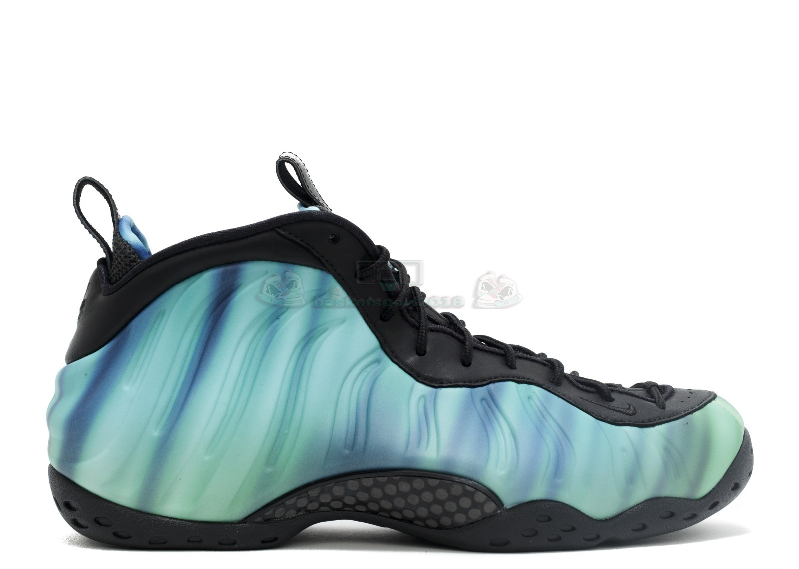 "Acheter Maintenant Pas Cher Femme - Nike Air Foamposite One Prm As Qs ""Northern Lights"" Noir Vert Pourpre (840559-001)"