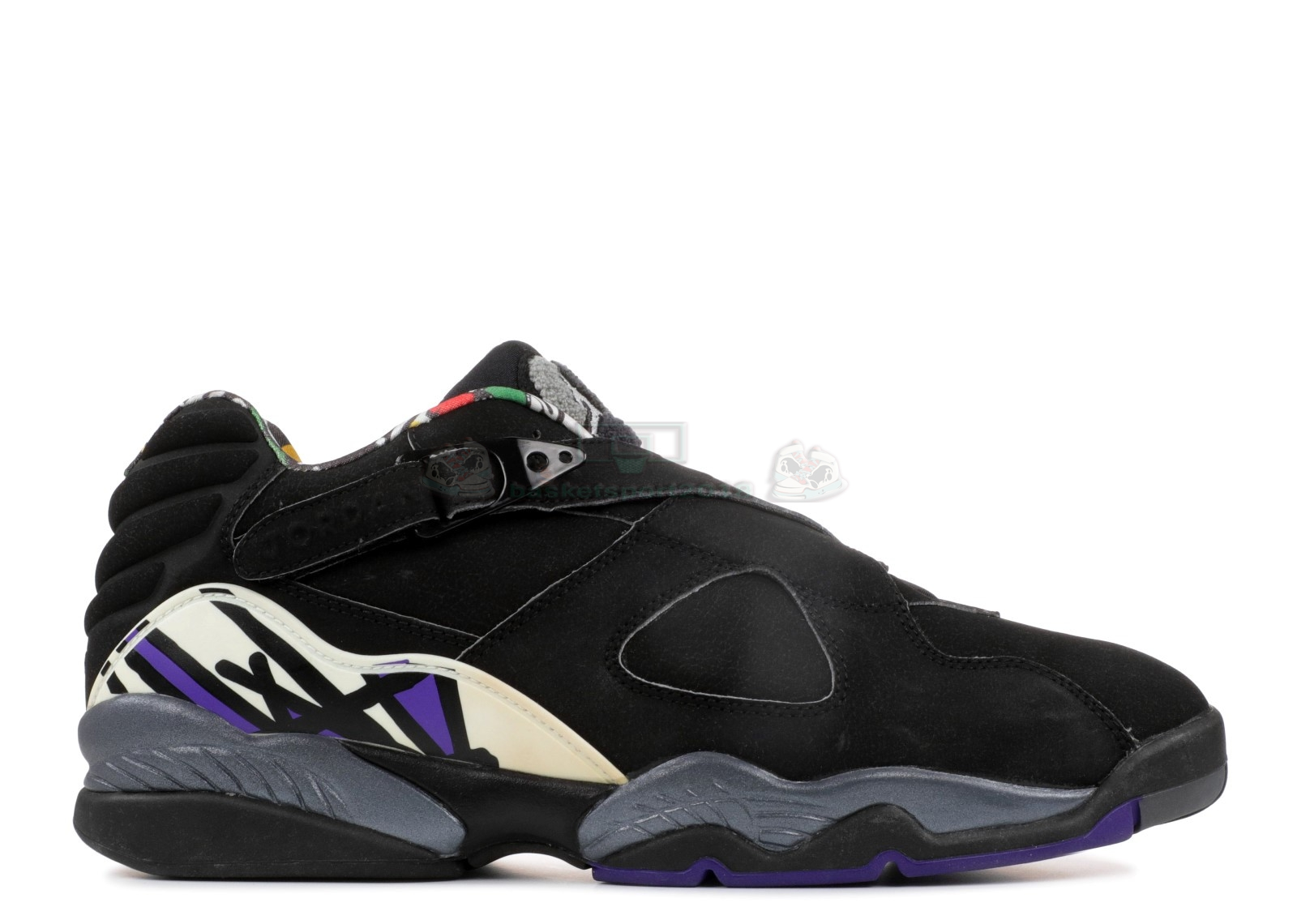 "Acheter Maintenant Pas Cher Homme - Air Jordan 8 Low Pe ""Mike Bibby Kings Away"" Noir Pourpre (jbm155-m7)"