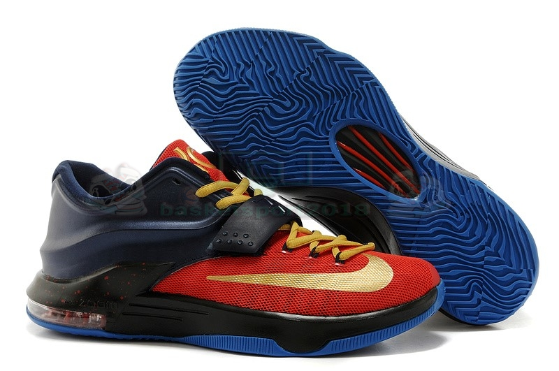 Acheter Maintenant Pas Cher Homme - Nike Kd Vii 7 Marine Rouge Or
