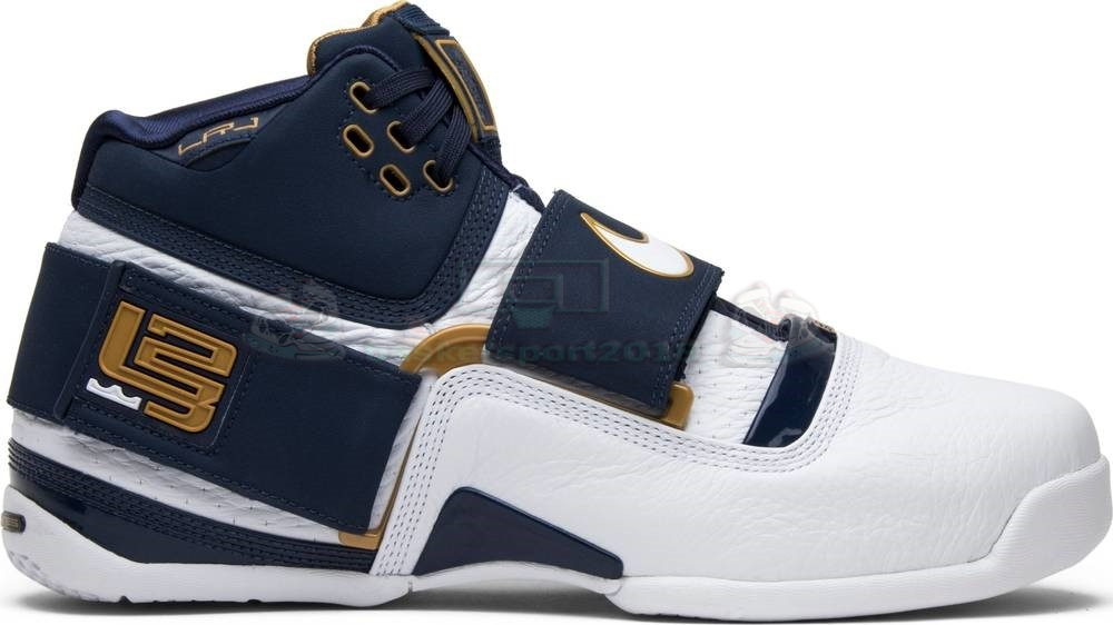 "Acheter Maintenant Pas Cher Homme - Nike Lebron Soldier I 1 ""25 Straight"" Marine Blanc Or (ao2088-400)"