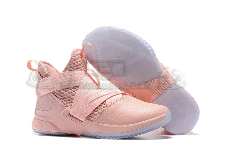 Acheter Maintenant Pas Cher Homme - Nike Lebron Soldier Xii 12 Rose