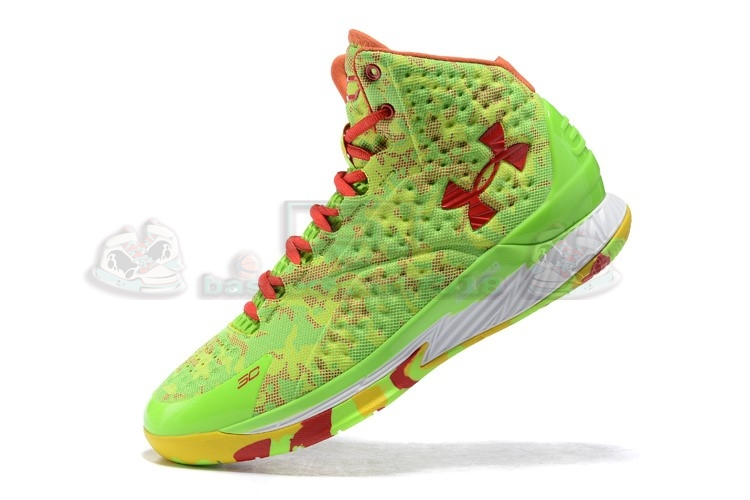 Acheter Maintenant Pas Cher Homme - Under Armour Curry 1 Camo Volt Jaune Rouge