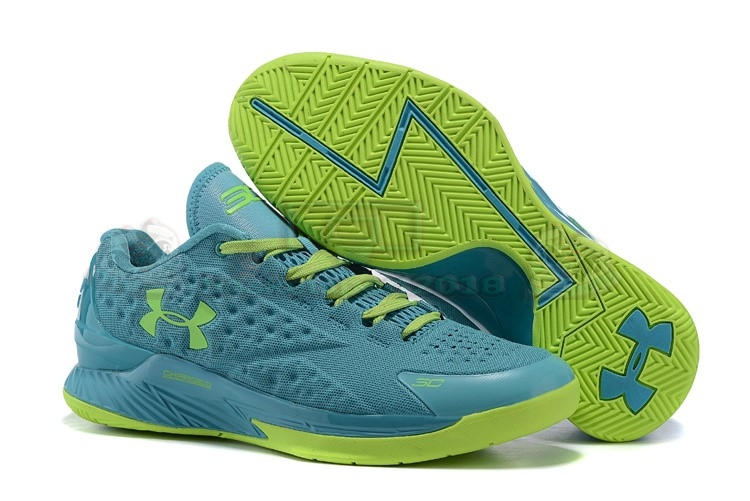 Acheter Maintenant Pas Cher Homme - Under Armour Curry 1 Low Vert Volt