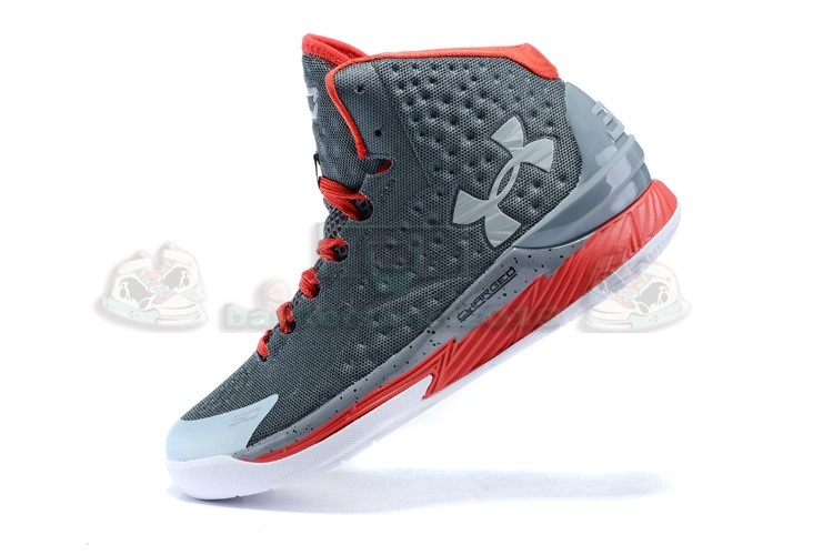 "Acheter Maintenant Pas Cher Homme - Under Armour Curry 1 ""Underdog"" Gris Rouge"