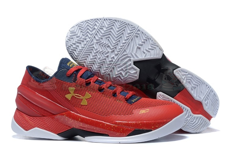 Acheter Maintenant Pas Cher Homme - Under Armour Curry 2 Low Rouge Or