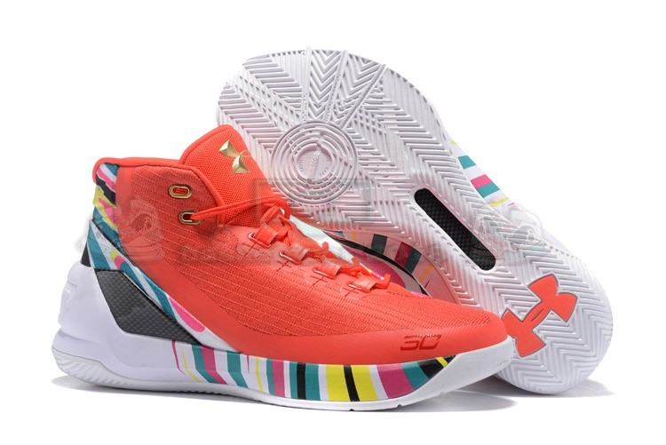 "Acheter Maintenant Pas Cher Homme - Under Armour Curry 3 ""Cny Rocket"" Orange"