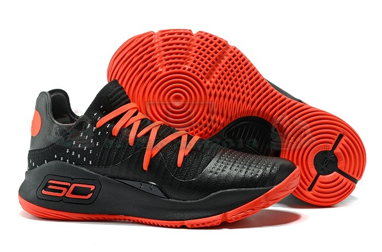 Acheter Maintenant Pas Cher Homme - Under Armour Curry 4 Low Noir Rouge
