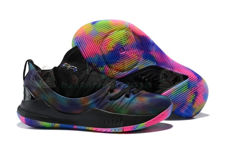 Acheter Maintenant Pas Cher Homme - Under Armour Curry 5 Low Rainbow Noir