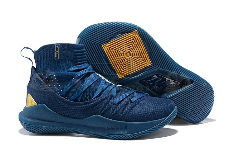 Acheter Maintenant Pas Cher Homme - Under Armour Curry 5 Marine Or