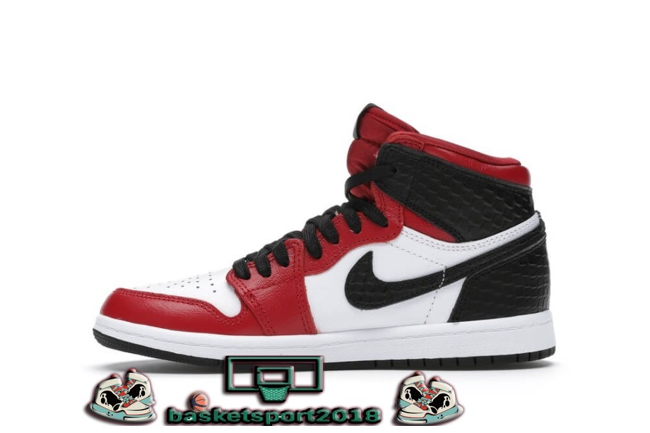 Jordan 1 Retro High Satin Snake Chicago (Ps) Blanc Noir 2 (CU0449-601)